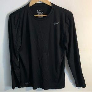 Nike Black Long Sleeve Tee Shirt / Workout Shirt